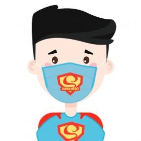Mascarilla Filtro Carbon Superheroe