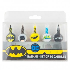 Pack 10 velas Batman DC Comics