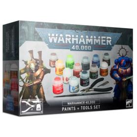 Juego de pinturas y herramientas Warhammer 40,000