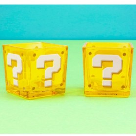 Vasos cuadrados Question Block Super Mario Nintendo