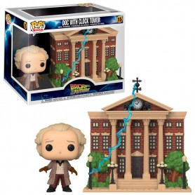 Figura POP Back To The Future Doc with Clock Tower 15