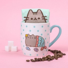Pusheen Taza con Calcetines Mermaid