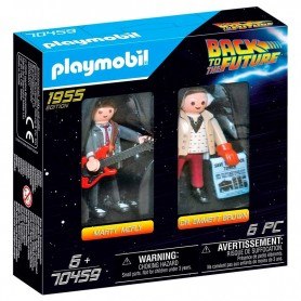 Set Playmobil 2 figuras Marty Mcfly y Dr. Emmett Brown Regreso al Futuro