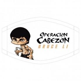 Mascarilla Bruce Li Operacion Cabezon Los Cabezones de Vegas