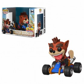Crash Team Racing POP! Rides Vinyl Figura Crash Bandicoot 15 cm
