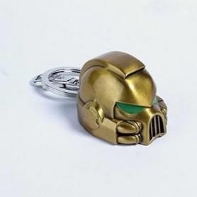 Llavero metal Space Marine MKVII Helmet Gold Warhammer 40K