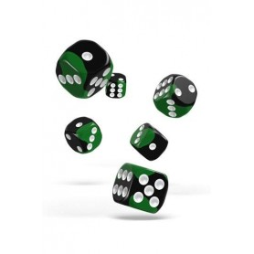 copy of Oakie Doakie Dice D6 Dice 16 mm Glow in the Dark - Biohazard (12)