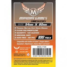 Fundas Yucatan Narrow Card Game Transparentes 54 X 80 MM (100 pack) MayDay