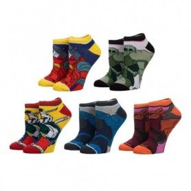 Gundam pack 5 pares de Calcetines Mujer