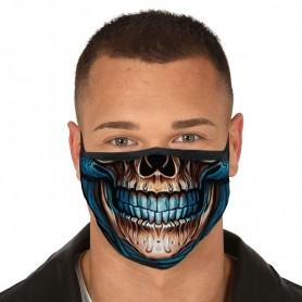 Mascarilla Adulto reutilizable 3 capas Skull