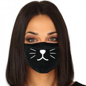 Mascarilla Halloween reutilizable 3 capas Cat