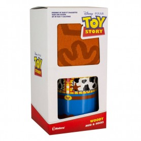 Taza desayuno + calcetines Woody Toy Story Disney