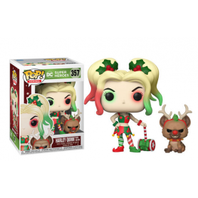 Figura POP DC Holiday Harley Quinn with Helper