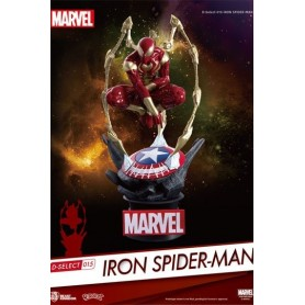 Marvel Diorama PVC D-Select Iron Spider-Man 16 cm