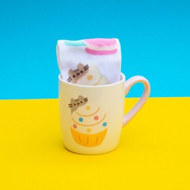 Pusheen Taza con Calcetines Gold