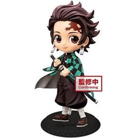 Demon Slayer Kimetsu no Yaiba Minifigura Q Posket Tanjiro Kamado Ver. A 14 cm