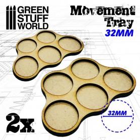 Bandejas de Movimiento DM 32mm x5 - Hostigador