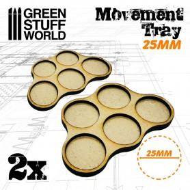 Bandejas de Movimiento DM 25mm x5 - Hostigador