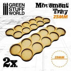 Bandejas de Movimiento DM 25mm x10 - Hostigador