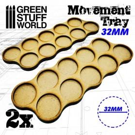 Bandejas de Movimiento DM 32mm x10 - Hostigador