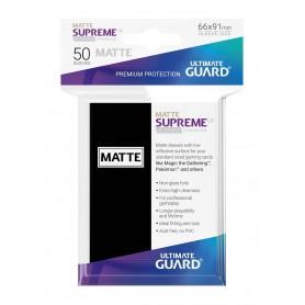 Ultimate Guard Supreme UX Sleeves Fundas de Cartas Tamaño Estándar Negro Mate (50)