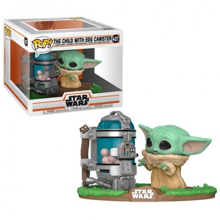 Figura POP Star Wars The Mandalorian Child with Canister 407