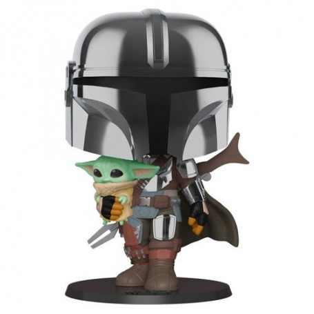 Figura POP Star Wars Mandalorian with Yoda Child 25cm