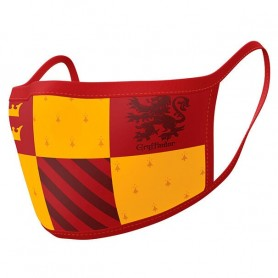 Pack 2 mascarillas reutilizables premium Gryfindor Harry Potter Adulto