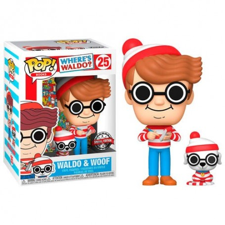 Figura POP Where s Waldo - Waldo with Dog Exclusive