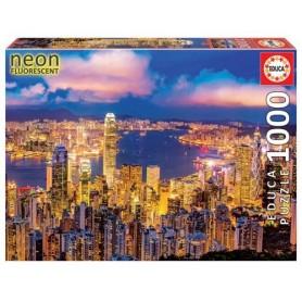 Puzzle 1000 Piezas Hong Konog Neon