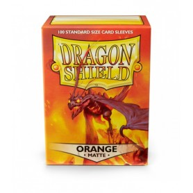 FUNDAS STANDARD DRAGON SHIELD COLOR NARANJA - PAQUETE DE 100