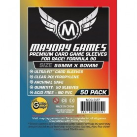 Premium Race! Formula 90 Card Sleeves (pack of 50) (55 X 80 MM)