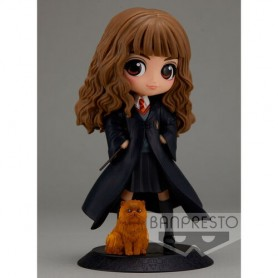 Figura Hermione Granger with Crookshanks Harry Potter Q Posket 14cm