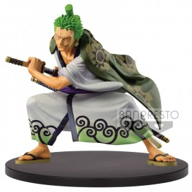 Figura The Ronroa Zoro Wano Kuni King of Artist One Piece 14cm