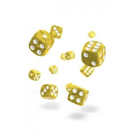Oakie Doakie Dice Dados D6 12 mm Marble - Amarillo (36)