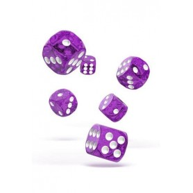 Oakie Doakie Dice Dados D6 16 mm Speckled - Púrpura (12)