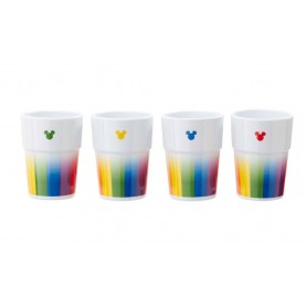 Disney Pack de 4 Vasos Tumbler Mickey Rainbow