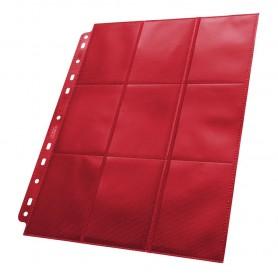 Ultimate Guard 18-Pocket Pages Side-Loading Rojo