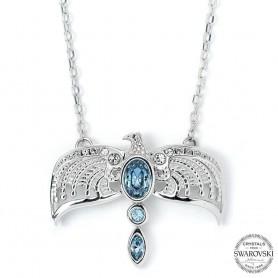Harry Potter x Swarovski Collar con Colgante Diadema (Plata de ley)