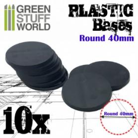 Peanas de Plástico - Redondas 40 mm NEGRO