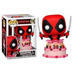 Marvel Deadpool 30th Anniversary Figura POP! Vinyl Deadpool in Cake 9 cm 776