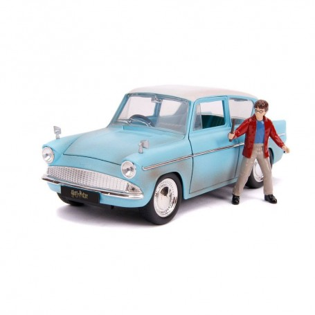 Harry Potter Vehículo 1/24 Hollywood Rides 1959 Ford Anglia con Figura