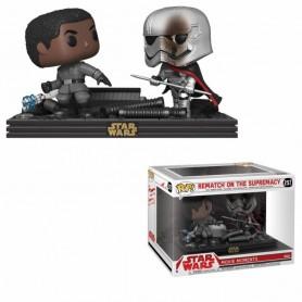 Star Wars Pack de 2 POP! Movie Moments Vinyl Cabezón Finn vs Captain Phasma 9 cm 257