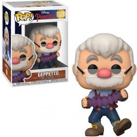 Pinocchio 80th Anniversary POP! Disney Pinocho Vinyl Figura Geppetto con Acordeón  9 cm