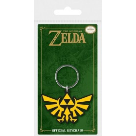 Legend of Zelda Llavero caucho Triforce 6 cm
