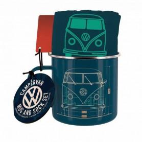 Volkswagen Set Taza y Calcetines Campervan
