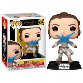 Star Wars Episode IX POP! Movies Vinyl Figura Rey w/2 Light Sabers 9 cm 434