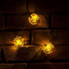 Harry Potter Set Luces Navidad Hogwarts Crests