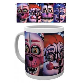 Five Nights at Freddy´s Taza Sister Location Faces