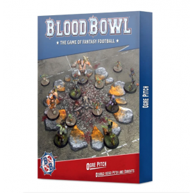 Blood Bowl Ogre Pitch: Double-sided Pitch and Dugouts (Inglés)